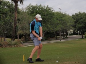 My opening tee shot at Abacoa GC last Tuesday....yes, they let us wear shorts!
